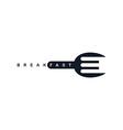 food service spoon fork logo vector image