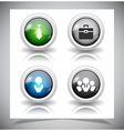 Abstract glass buttons vector | Price: 1 Credit (USD $1)