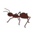 Ant in Flat Style Design vector image vector image