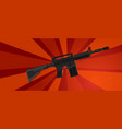 arm assault rifle military war forces revolution vector image vector image