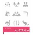 australia icon set