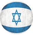 Ball with Israel flag vector image