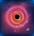 Beautiful Glowing Galaxy Black Hole vector image vector image