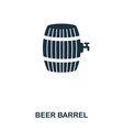 beer barrel icon line style icon design ui vector image