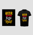 beer day typography t-shirt design vector image vector image