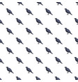 black crow pattern seamless vector image vector image