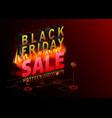 black friday sale banner hottest discounts fire vector image