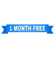 blue ribbon with 1 month free caption