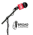 Broadcasting design vector image