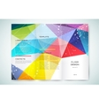 Business card template Abstract triangle design vector image vector image