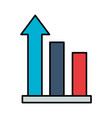 business statistics bar arrow vector image vector image