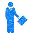 Businessman Grainy Texture Icon vector image vector image
