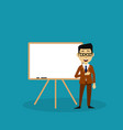businessman making a presentation vector image vector image