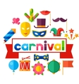Celebration festive background with carnival flat vector image vector image