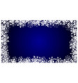 christmas blue background with snowflakes holiday vector image