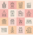 city architecture set vector image vector image