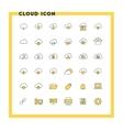 cloud computing flat design icon set vector image