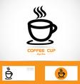 Coffe cup orange logo vector image vector image