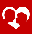 Couple love heart vector | Price: 1 Credit (USD $1)