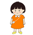 cute girl cartoon vector image vector image