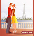 dating in paris background vector image vector image