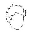 default head man portrait hair image vector image vector image