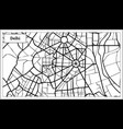 delhi india city map in black and white color vector image vector image
