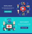 digital health gadgets flat banners vector image vector image