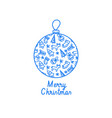 elegant christmas background with line icons vector image vector image