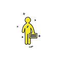 employee icon design vector image vector image