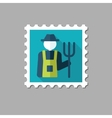 Farmers flat stamp with long shadow vector image vector image