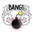fashion bomb with stars and bang explosion vector image vector image