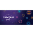 fireworks firecracker at night celebration vector image vector image