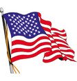 flag united states america in flagpole waving vector image vector image