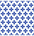 flower blue and white pattern vector image