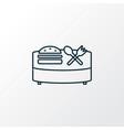 food court icon line symbol premium quality vector image
