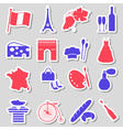 france country theme symbols stickers set eps10 vector image vector image
