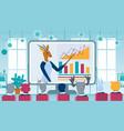 gazelle character doing online video presentation vector image vector image