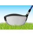 golf grass driver vector image vector image