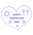 Greeting card with a happy friendship day vector image vector image