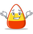 grinning candy corn character cartoon vector image vector image