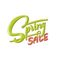 hand drawn lettering spring sale with shadow and vector image