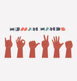 hands gestures isolated on white background vector image vector image
