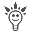 happy light bulb flat icon vector image