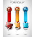 Infographic template for modern data visualization vector image vector image