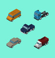 isometric automobile set of freight truck vector image vector image