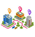 isometric the way work shop house concept vector image