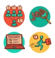 Job business concept icons composition vector image vector image