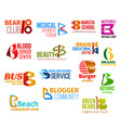 Letter b corporate identity business icons