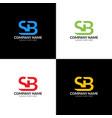letter sb logo icon flat vector image